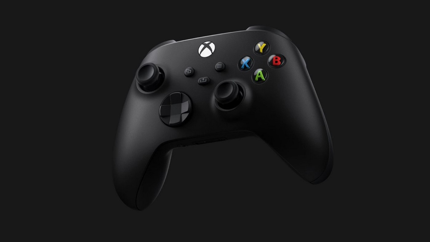 Controle do console Xbox Series X na cor preta. Fonte: Microsoft