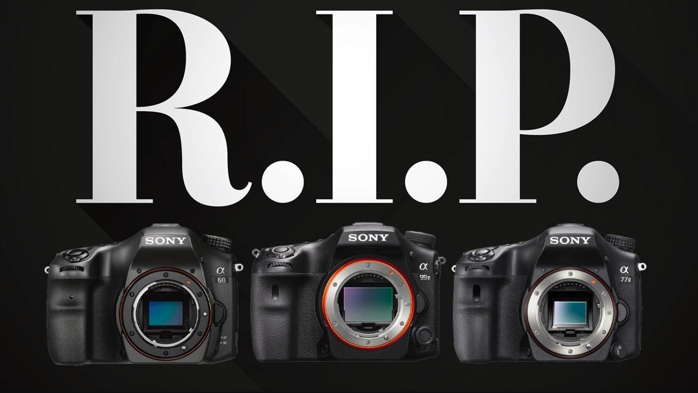 Câmeras Sony DSLR A-Mount são descontinuadas