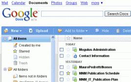 Google Docs: Armazenamento virtual de 1GB