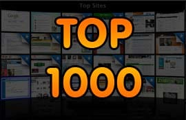 Top 1000 sites mais acessados