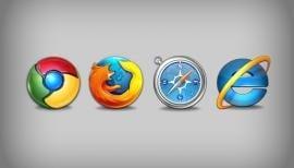 Internet Explorer e Firefox em declínio