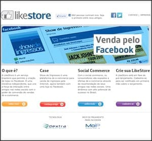 LikeStore é loja virtual dentro do Facebook