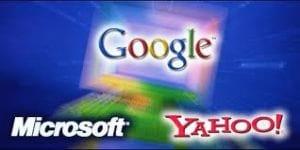 Yahoo, Microsoft e Google unidas por um ideal