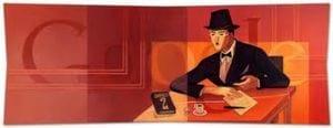 Agora é a vez de Fernando Pessoa ser homenageado pelo Google
