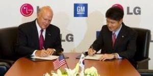 General Motors e LG firmam parceria para desenvolver carro elétrico