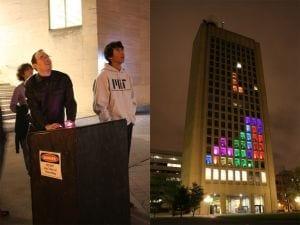 Alunos do Instituto de Tecnologia de Massachusetts transformam prédio em tela de videogame