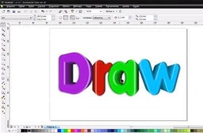 Escrevendo Texto em 3D no Corel Draw