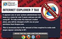 Empresa australiana cobra imposto para usuários do Internet Explorer 7