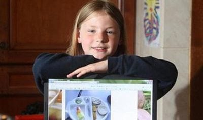 Menina é proibida de tirar fotos de merenda escolar e publicá-las em seu blog