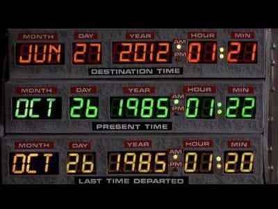 Data de viagem do Filme de Volta pro Futuro vira mania na web