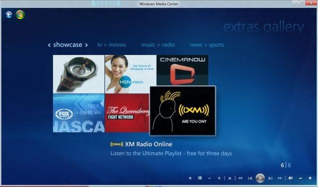 Windows 8: Windows Media Center