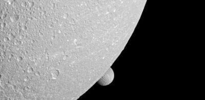 Luas de Saturno são captadas pela sonda Cassini
