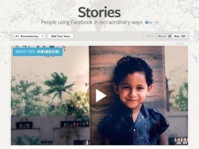 Facebook cria novo espaço para partilhar histórias