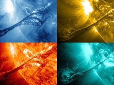 Nasa divulga novas imagens de forte explosão solar
