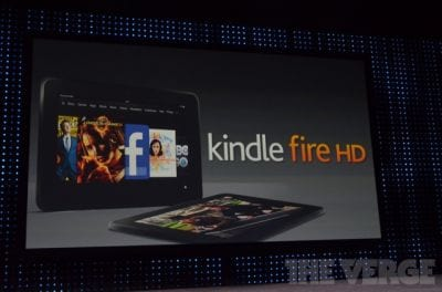 Amazon apresenta seu mais novo tablet, o Kindle Fire HD