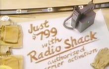 Anúncio de celular em 1989 - Radio Shack