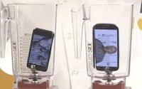 Que tal triturar um iPhone5 e um Samsung Galaxy S3 ao mesmo tempo