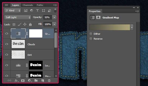 Como criar um efeito de texto costurado em jeans no Photoshop CS6