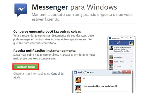 Como instalar o Facebook Messenger no Windows?