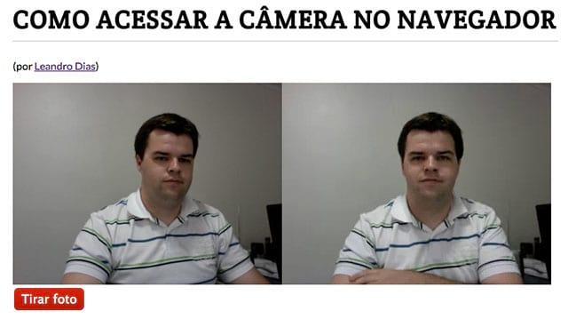 Como acessar a câmera no navegador com HTML5
