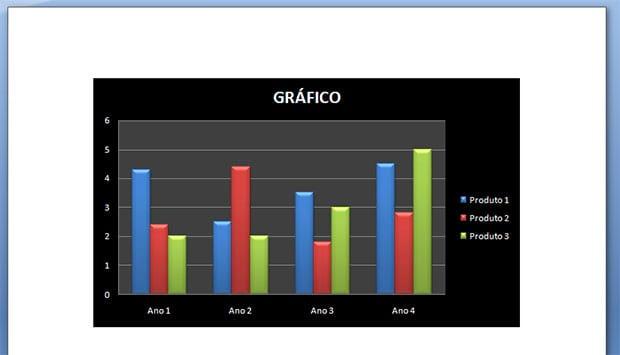 Como criar gráficos no Word e no Excel?