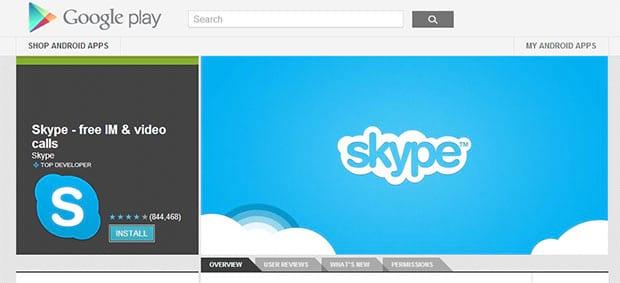 Como usar o Skype para Android?