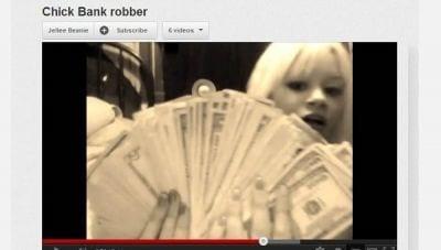 Menina divulga vídeo onde se gaba de ter roubado um carro e assaltado um banco