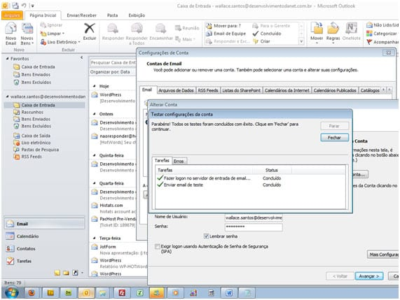 Como configurar o Outlook 2010?