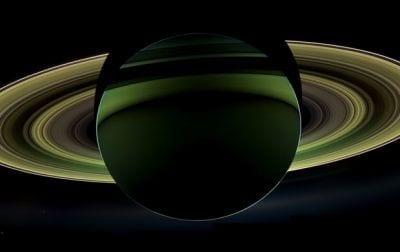 Nasa divulga imagem da sombra de Saturno