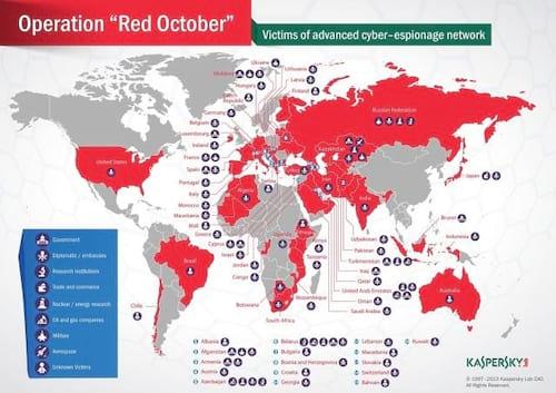 Vírus de espionagem invadiu 39 países, incluindo o Brasil