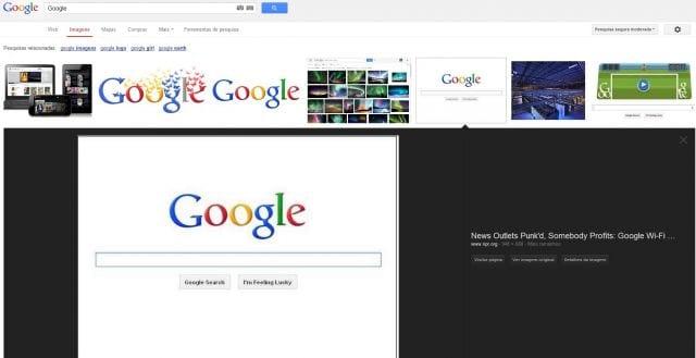 Google Imagens recebe nova interface