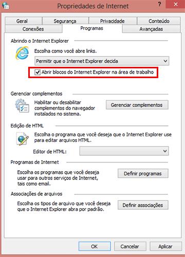 Como definir o Internet Explorer clássico como padrão