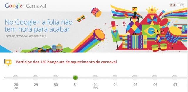 Google+ já entrou no clima do Carnaval