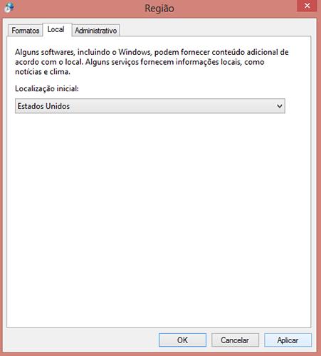 Como alterar a região da Windows Store no Windows 8