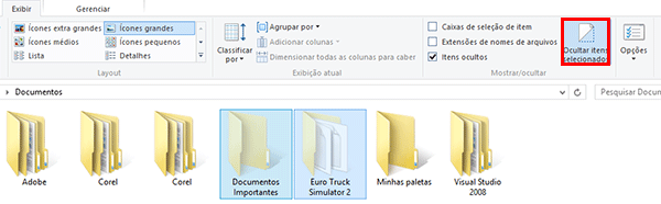 Como ocultar pastas no Windows 10 e no Windows 8?