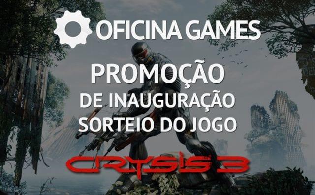 Lançamento do canal Oficina Games e promoção de inauguração
